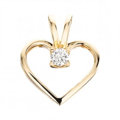 Kleopatra hjerte vedhæng i 14 karat guld