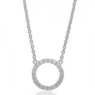 Sif Jakobs - Halskæde Biella Grande i forgyldt sølv med zirkoner