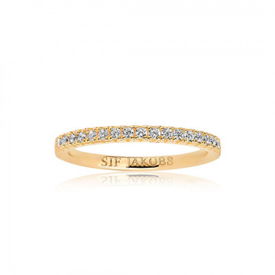Sif Jakobs - Fingerring i forgyldt sølv fra smykkeserien Ellera