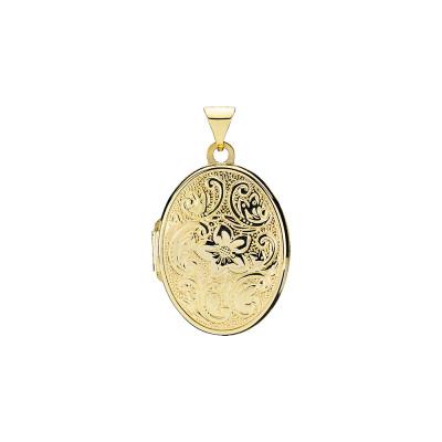 Lund Copenhagen- Vedhæng - medaljon i 8 karat guld.