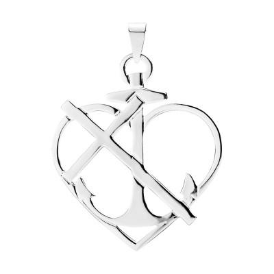 Lund Copenhagen- Vedhæng- tro, håb & kærlighed i 925 sølv.