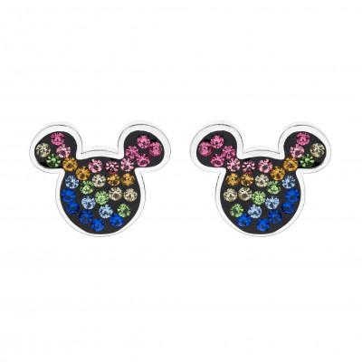 Disney sølvøreringe - Mickey Mouse med sten i forskellige farver (11/20)