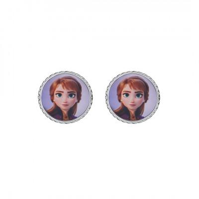 Disney sølvøreringe - Frozen - Cirkel med Anna (11/20)