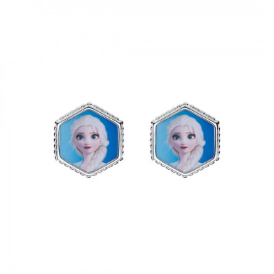 Disney sølvøreringe - Frozen - Sekskant med Elsa (11/20)