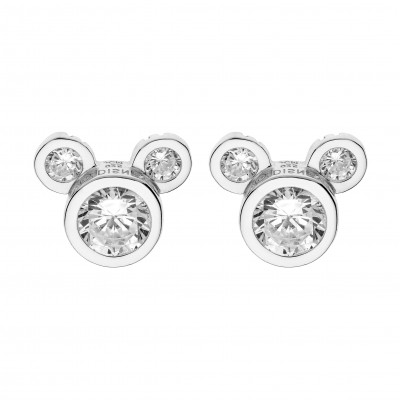 Disney sølvøreringe - Mickey Mouse med zirkoner(11/20)