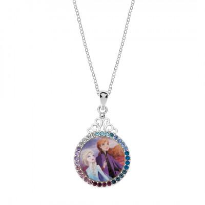 Disney Frozen sølvhalskæde - Anna & Elsa (11/20)