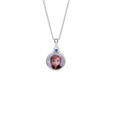 Disney Frozen sølvhalskæde - Cirkel med Anna (04/21)