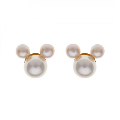 Disney øreringe i 9 karat guld - Mickey af perler (11/20)