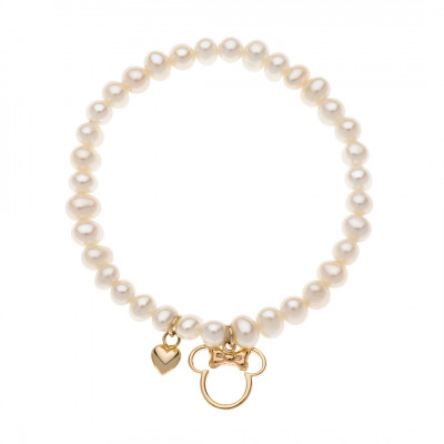 Disney perle armbånd i med Minnie Mouse 9 karat guld (11/20)