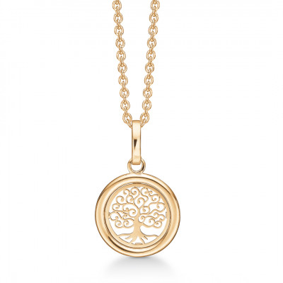 Halssmykke - Livets træ i 8 karat guld (11/20)