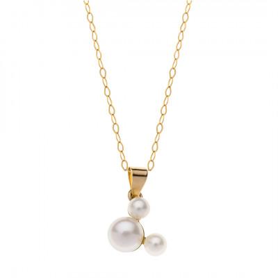 Disney halssmykke i 9 karat guld - Mickey Mouse i perler (11/20)