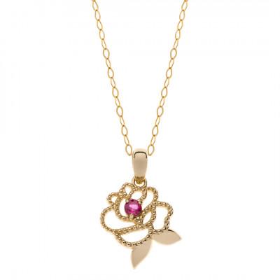 Disney - Halssmykke blomst i 9 karat guld (06/21)