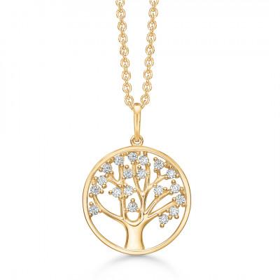 Halssmykke - Livets træ i 14 karat guld (11/20)