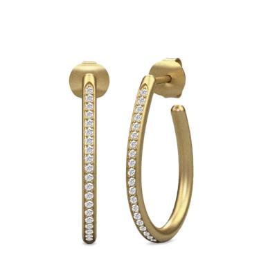 Julie Sandlau Infinity - Øreringe, forgyldt eller sølv
