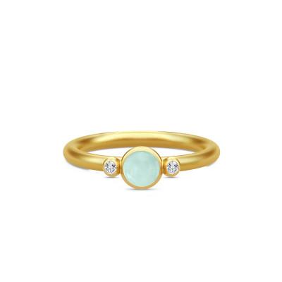 Julie Sandlau Prime - Ring forgyldt, fås med forsk. sten