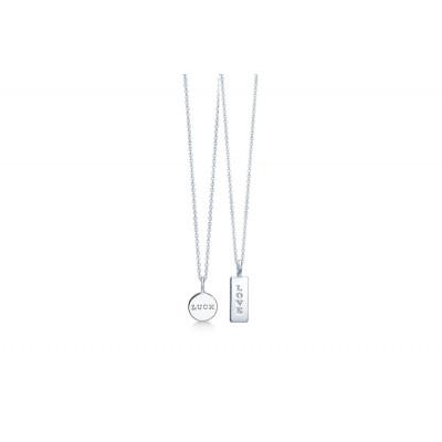 ID Fine - Tag necklace i sølv eller forgyldt