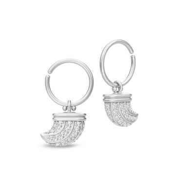 Julie Sandlau - Eagle Mini Hoop - øreringe i satinrhodineret 925 sterlingsølv