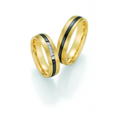 Vielsesringe i Gold & Black 14 karat guld og Zirkonium (07/19)