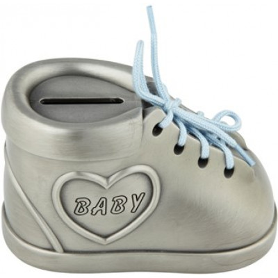 Sparebøsse baby sko lyserød/blå