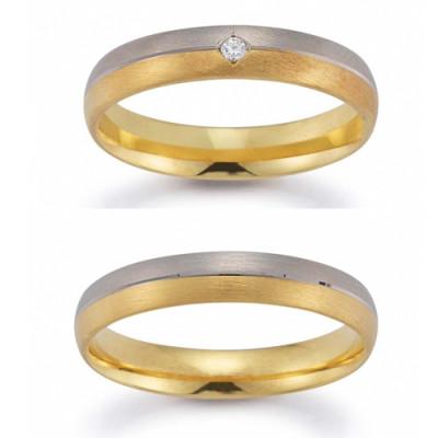Vielsesringe fra Gerstner 20130 (X2)i 2-farvet 14 karat guld nov 17