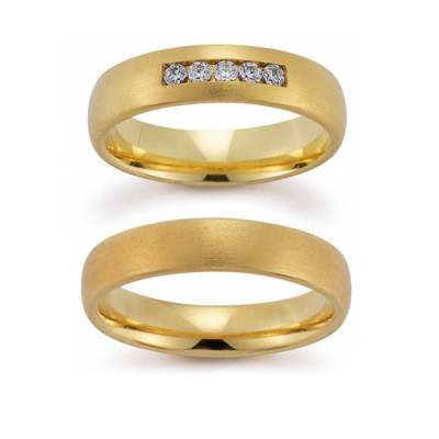 Vielsesringe Gerstner 20802 i 8 karat alm guld(X1) 08/19