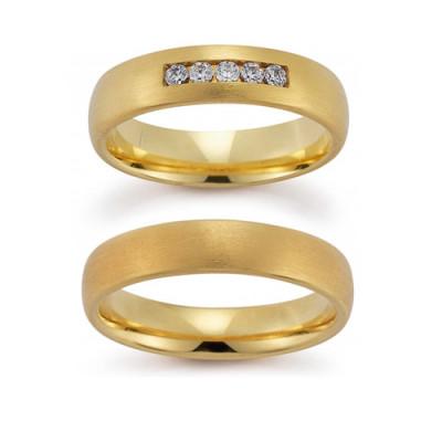 Vielsesringe Gerstner 20802 i 14 karat alm guld(X1) 08/19