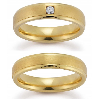 Vielsesring Gerstner 20991 i 14 karat alm guld (X1) 08/19