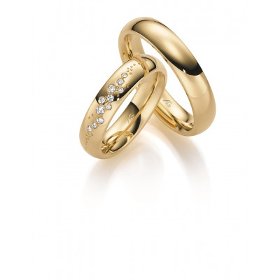 Vielsesringe i 8 karat alm. guld fra Gerstner 28622 (X38) 08/19