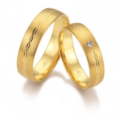Vielsesringe i 14 karat guld fra Gerstner 28666 (L2) 08/19