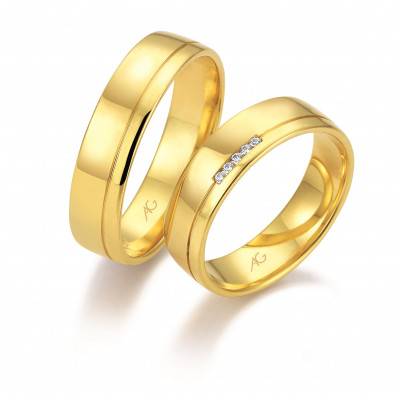 Vielsesringe i 14 karat guld fra Gerstner 28667 (L2) nov 17