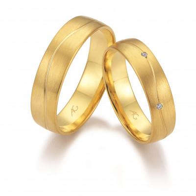 Vielsesringe i 14 karat alm guld fra Gerstner 28668 (L2) 08/19