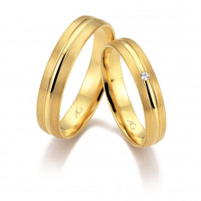 Vielsesringe i 14 karat guld fra Gerstner 28670 (L2) nov 17