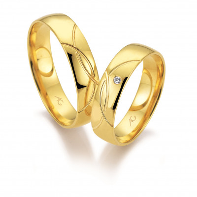 Vielsesringe i 14 karat alm guld fra Gerstner 28671 (L2) 08/19