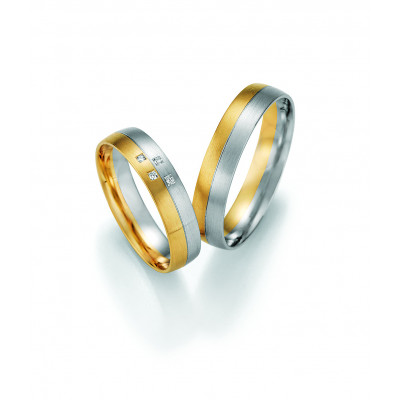 Vielsesringe - HM Pure V i guld og hvidguld