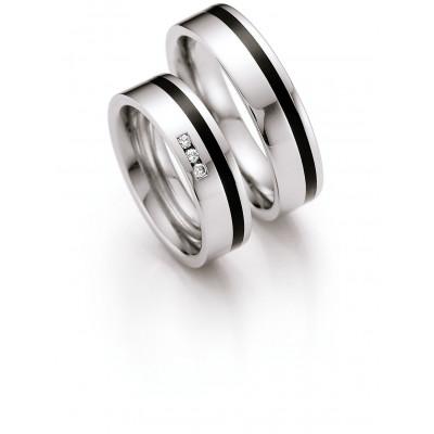 Vielsesringe i stål og keramik (20/08)