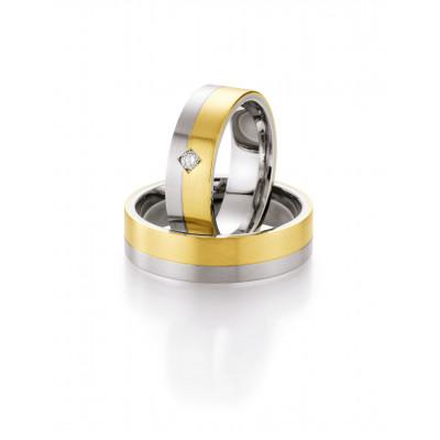 Vielsesringe i stål og guld