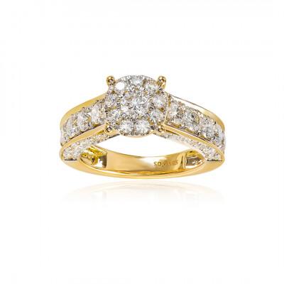 Fingerring med brillanter i 14 karat guld (07/20) - Amira
