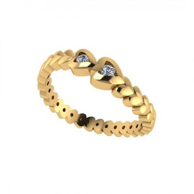 Ring med brillant i 14 karat guld (08/20) - Mors ring