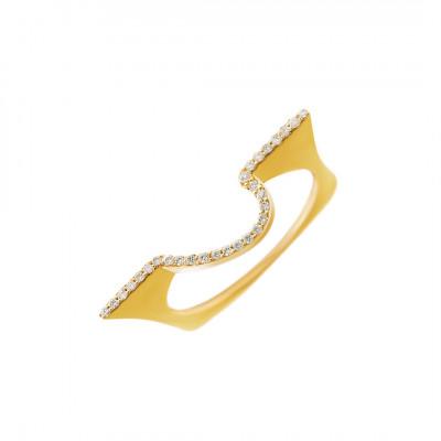 Samlering i 14 karat guld med brillanter (09/20) Sawa 1008