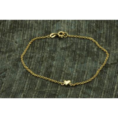 Armbånd guld 14 karat guld med lille hjerte