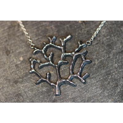 Livets træ i 925 oxideret sølv