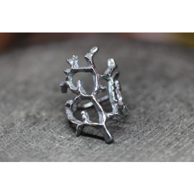 Livets træ fingerring i sølv