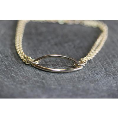 Unika armbånd i 14 karat guld