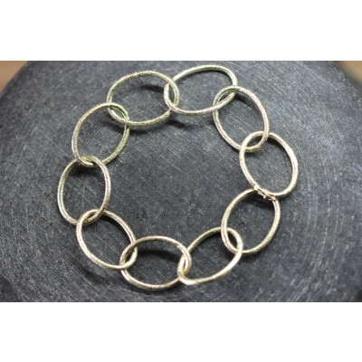 Unika armbånd i guld med ovale ringe i 14 karat guld