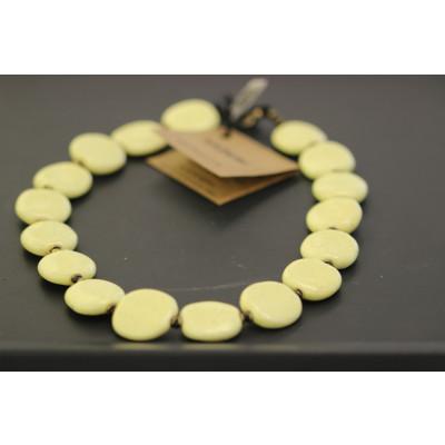 Kazuri - Pebbles Halskæde, forsk. farver