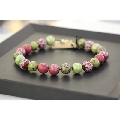 Kazuri - Candy Ting Ting Halskæde, forsk. farver