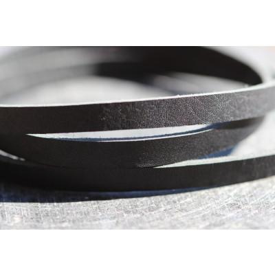 Honningbi Læderarmbånd sort med sølv lås