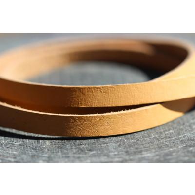 Honningbi læderarmbånd brun med guldlås