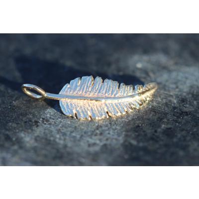 Vedhæng - Fjer i sølv
