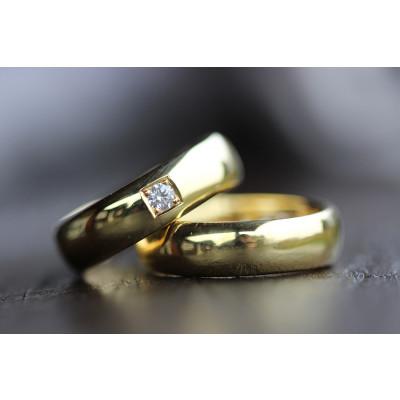 Vielsesringe MG3 / 6mm 0,10 ct TW.Si i 8 karat guld (Parpriser se billede) (10/19)